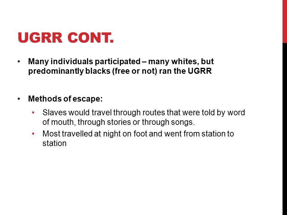 UGRR CONT.