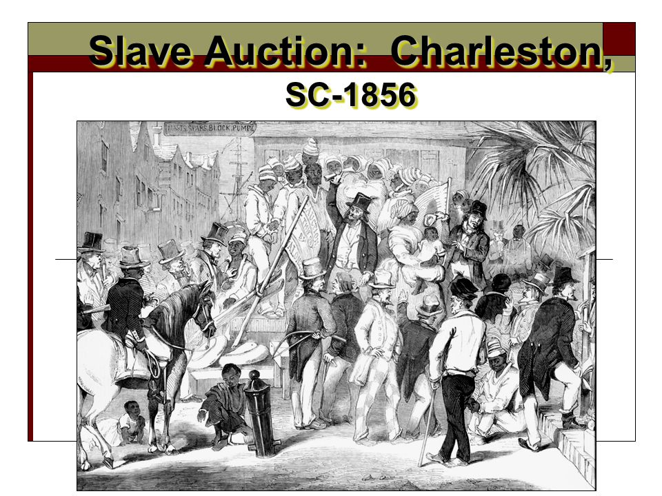 Slave Auction: Charleston, SC-1856