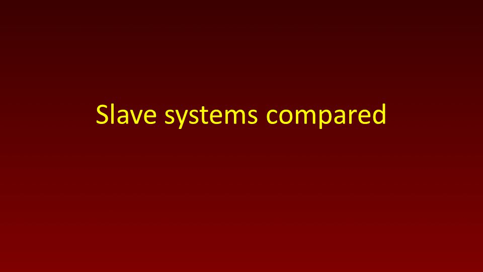 Slave systems compared
