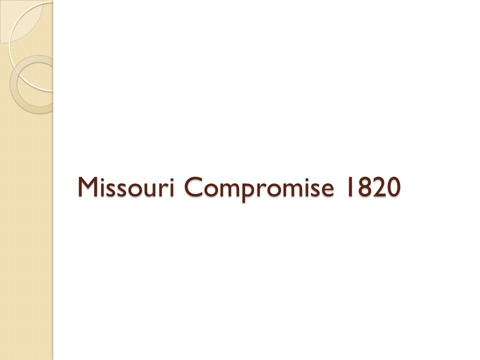 Compromise of 1850 California admitted as a free state Utah and New Mexico determined by Popular sovereignty Resolved the Texas issue ◦ Assume debt for loss of land Abolish the slave trade in District of Columbia Stronger Fugitive Slave Act