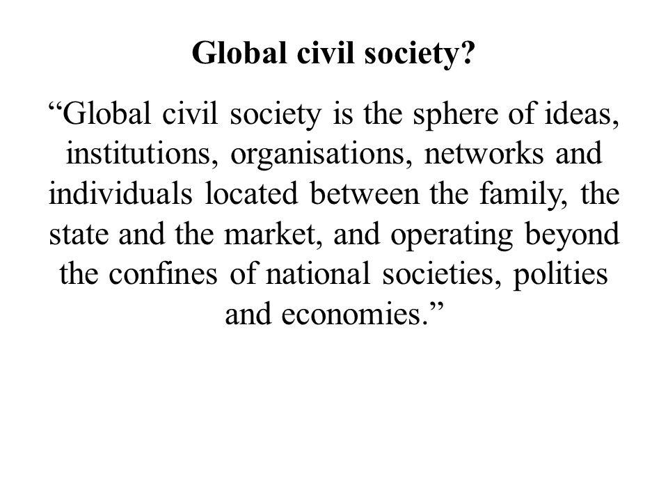 Global civil society.