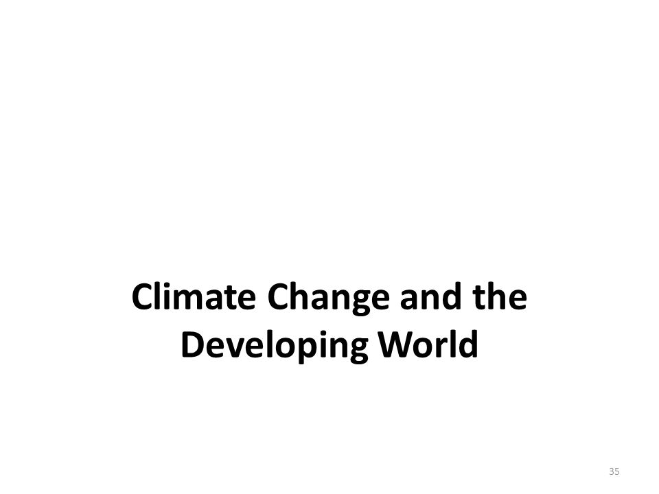 Climate Change and the Developing World 35