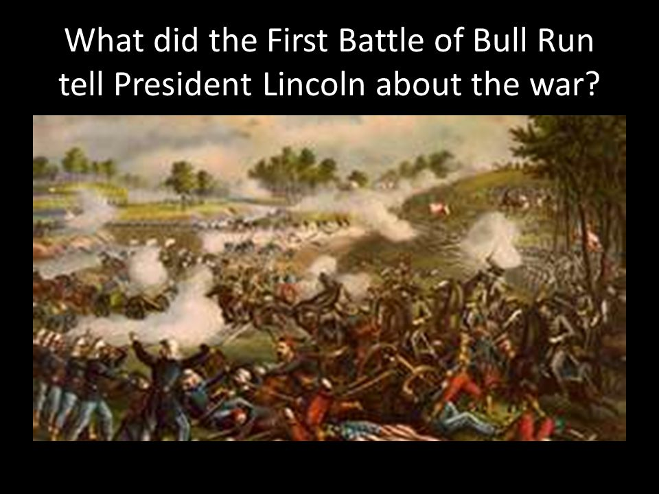 What did the First Battle of Bull Run tell President Lincoln about the war?