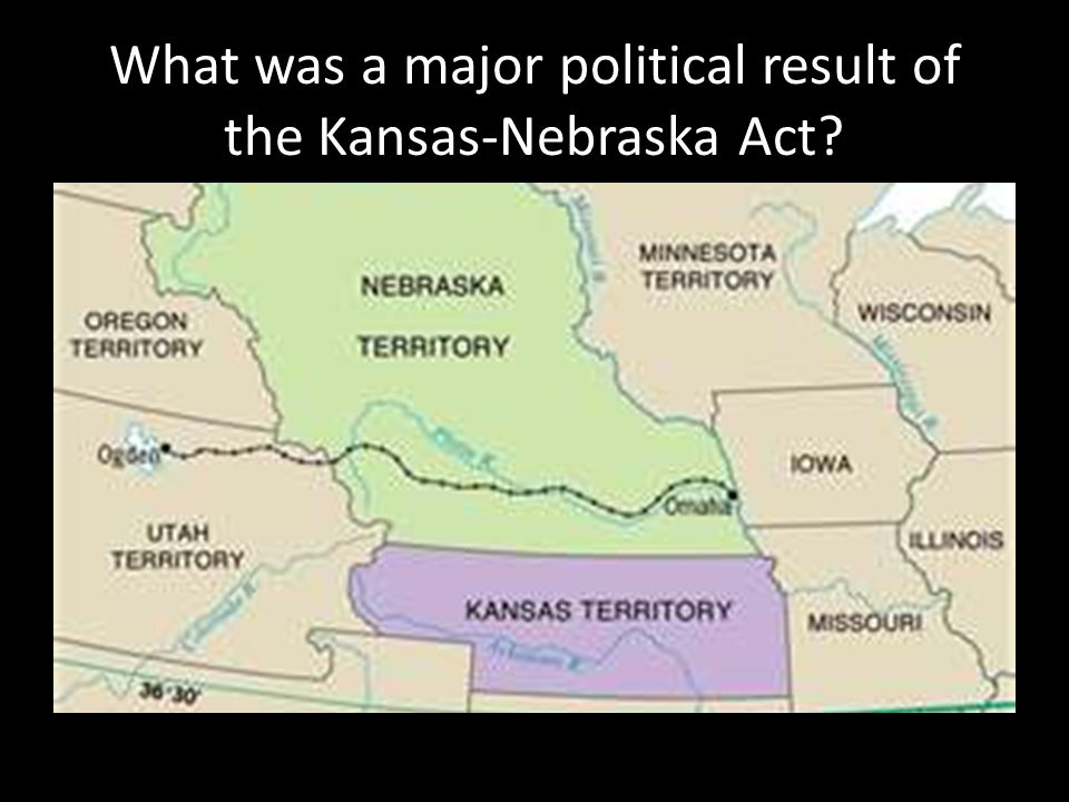 What was a major political result of the Kansas-Nebraska Act?