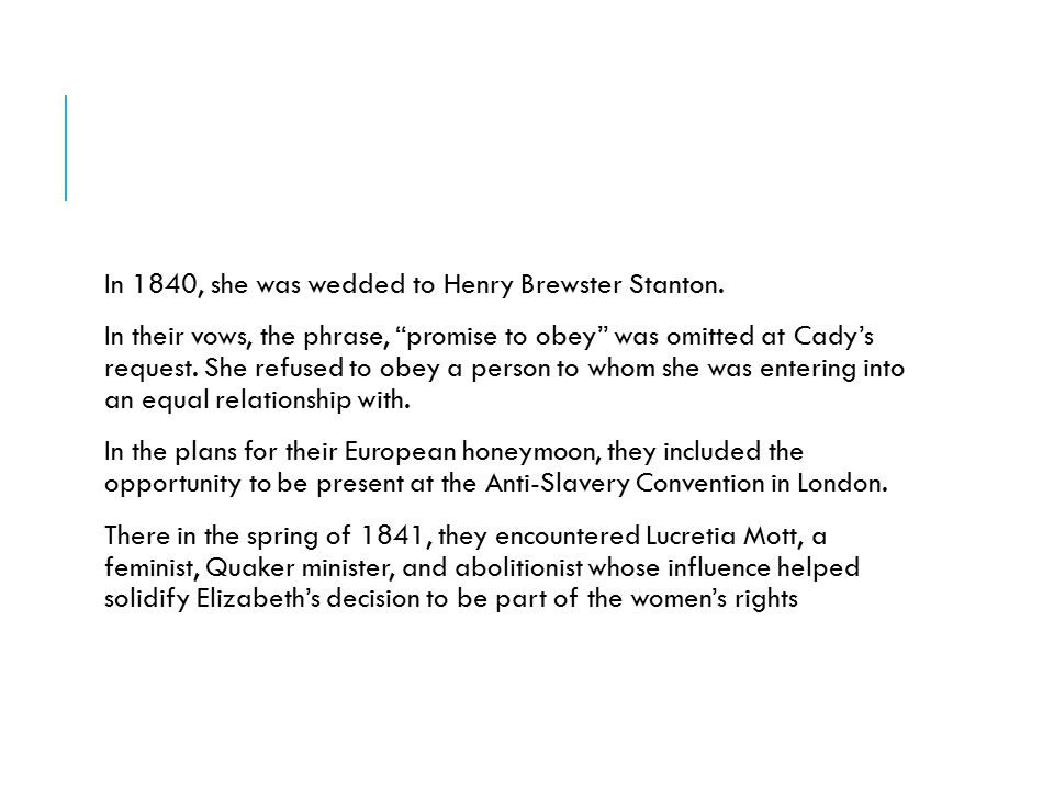 BEFORE THE CONVENTION  Before the Seneca Falls Convention, there had been problems with the issue of equality.