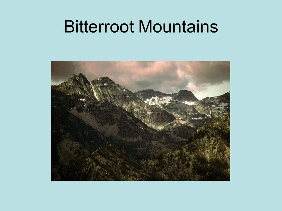 Bitterroot Mountains