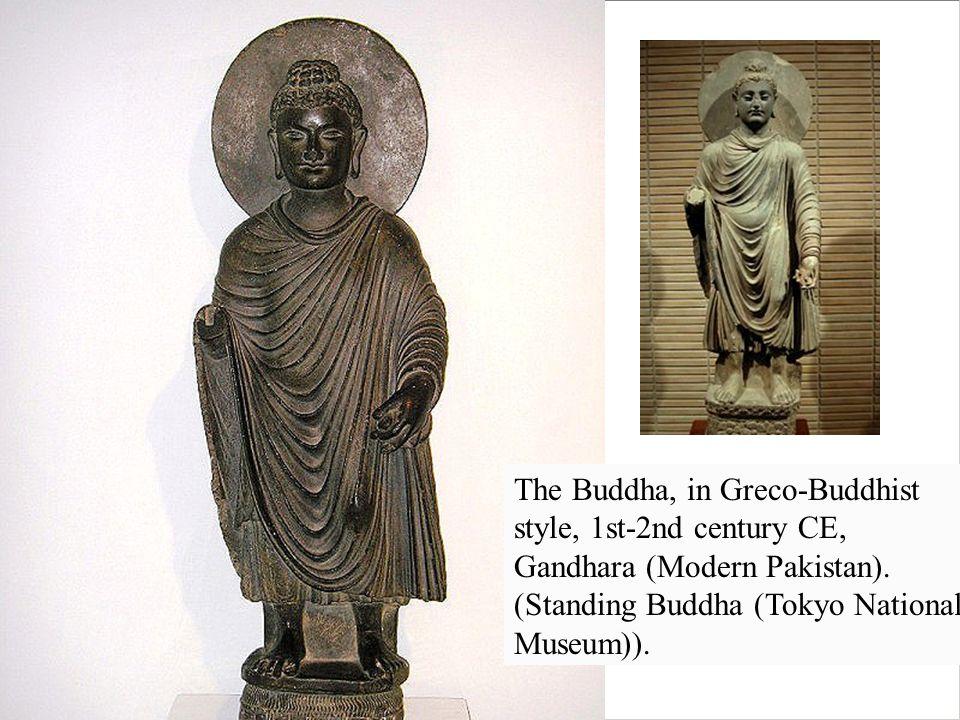 The Buddha, in Greco-Buddhist style, 1st-2nd century CE, Gandhara (Modern Pakistan).