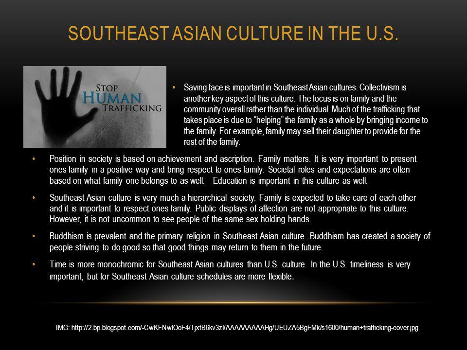 SOUTHEAST ASIAN CULTURE IN THE U.S. Saving face is important in Southeast Asian cultures.