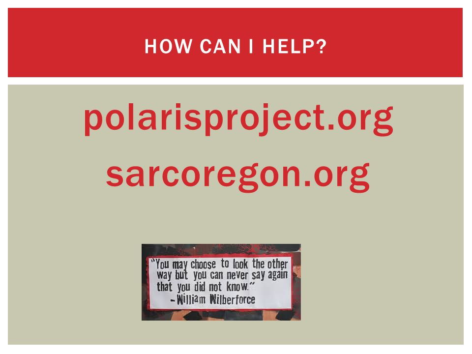 polarisproject.org sarcoregon.org HOW CAN I HELP