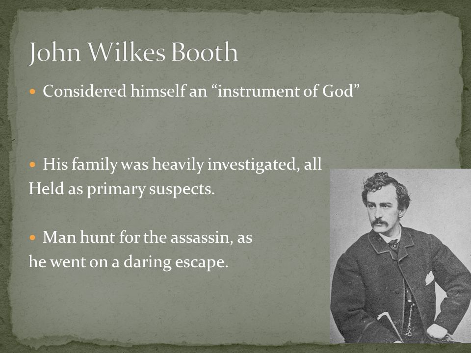 Considered himself an instrument of God His family was heavily investigated, all Held as primary suspects.