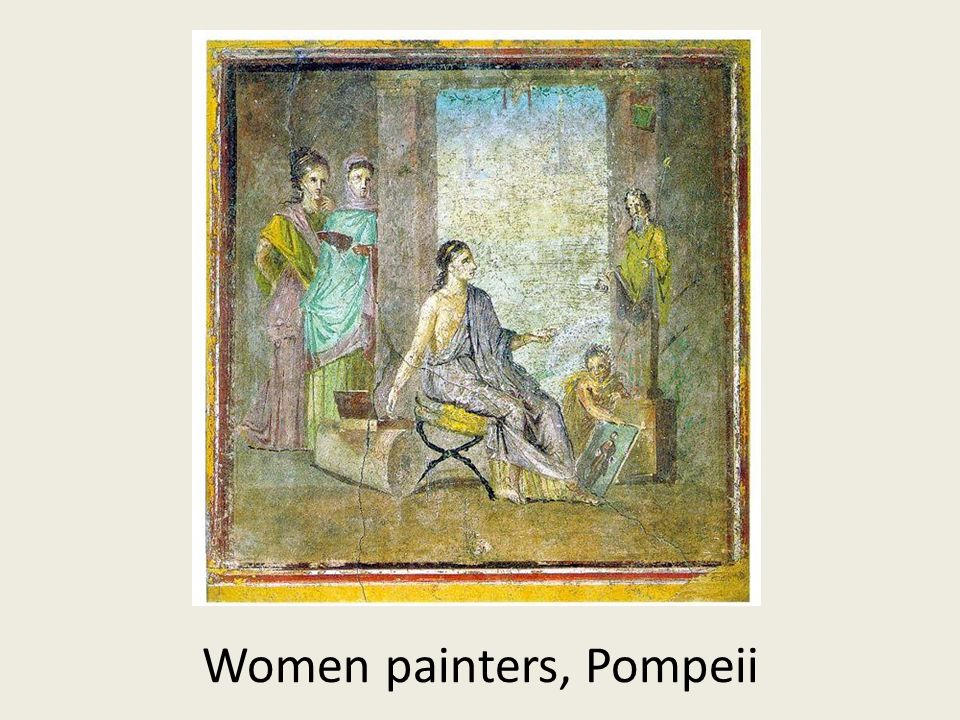 Women painters, Pompeii