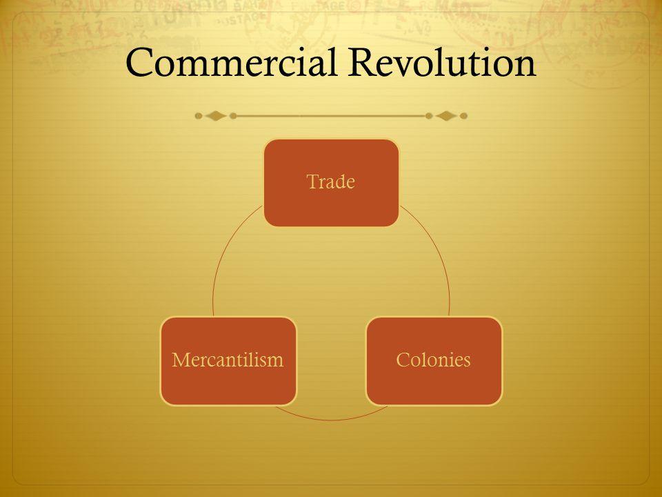 Commercial Revolution TradeColoniesMercantilism