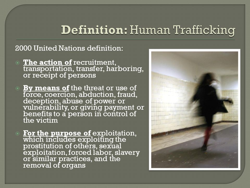  In September 2010, MP Joy Smith released Connecting the Dots , her proposal for a National Action Plan to Combat Human Trafficking.