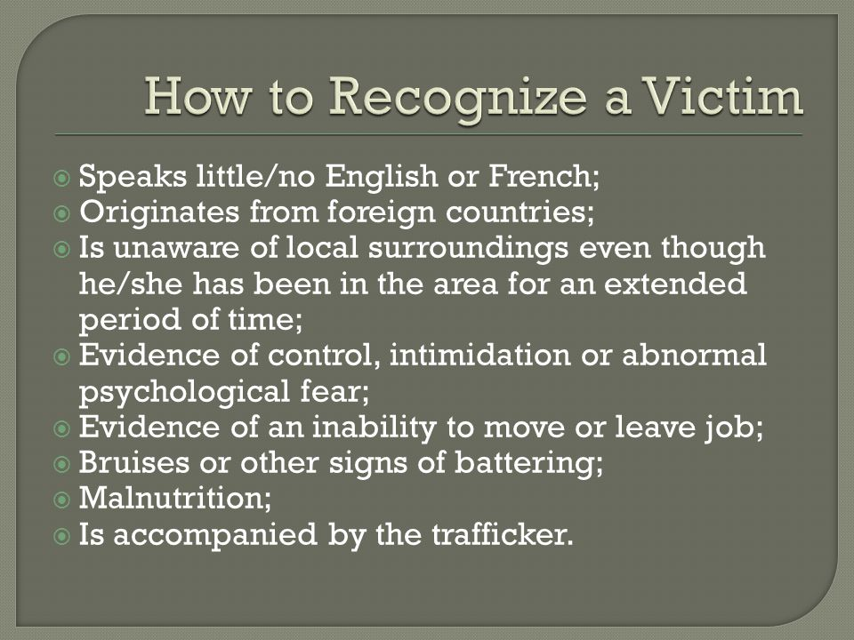  June 2002 – Immigration and Protection Act (IRPA) amended to include human trafficking related offences.