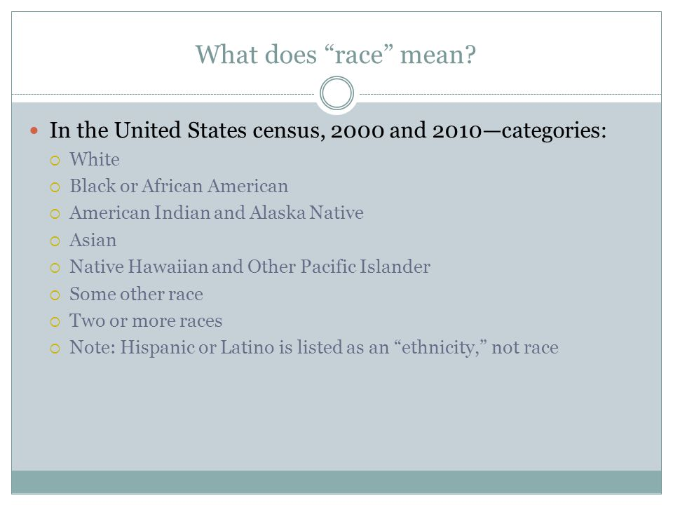 What does race mean.