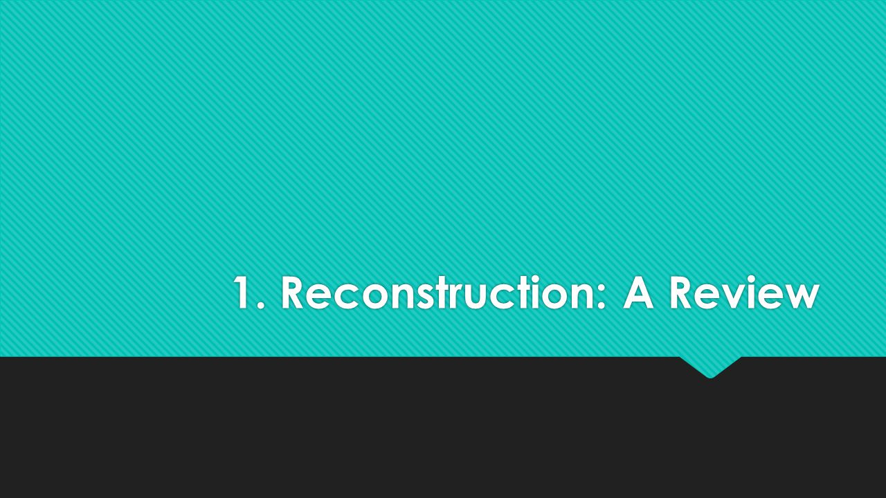 What's Reconstruction.
