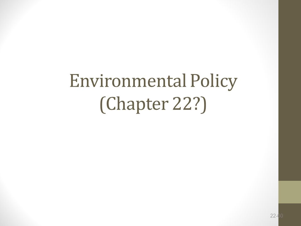 Environmental Policy (Chapter 22?) 22-60
