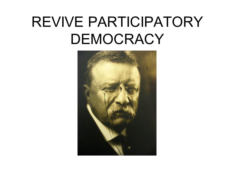 REVIVE PARTICIPATORY DEMOCRACY