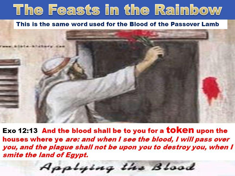 אות The word Token is used to describe the Rainbow in Hebrew it's the word - o ̂ th –oth -Token Probably from H225 (in the sense of appearing); a signal (literally or figuratively), as a flag, beacon, monument, omen, prodigy, evidence, etc.: - mark, miracle, (en-) sign, token.