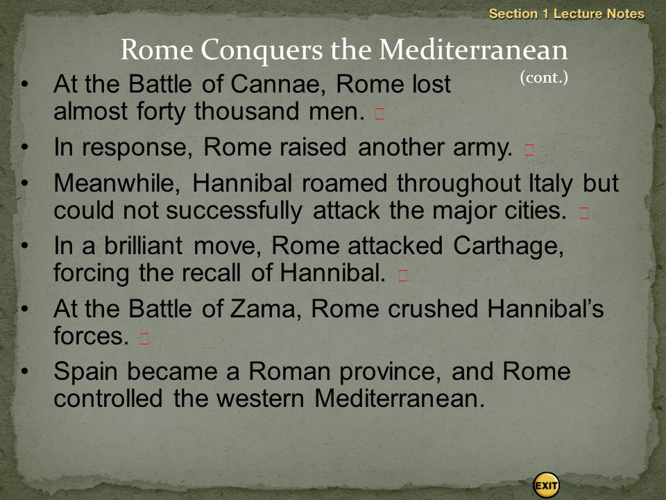 At the Battle of Cannae, Rome lost almost forty thousand men.  In response, Rome raised another army.  Meanwhile, Hannibal roamed throughout Italy b