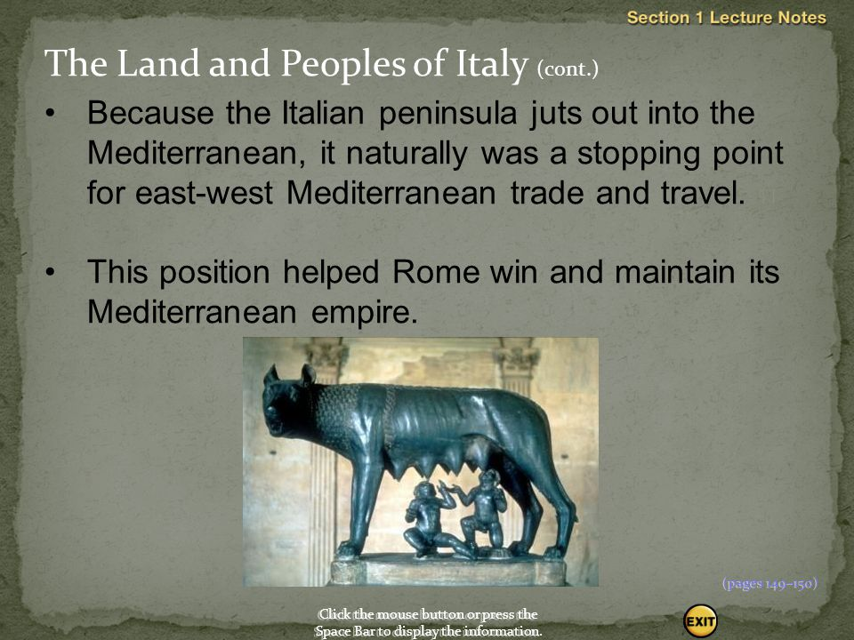 Indo-European peoples moved into Italy from about 1500 to 1000 B.C.