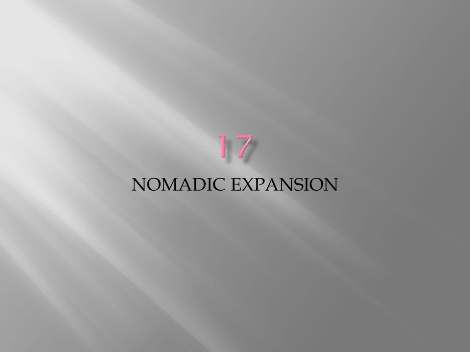 NOMADIC EXPANSION