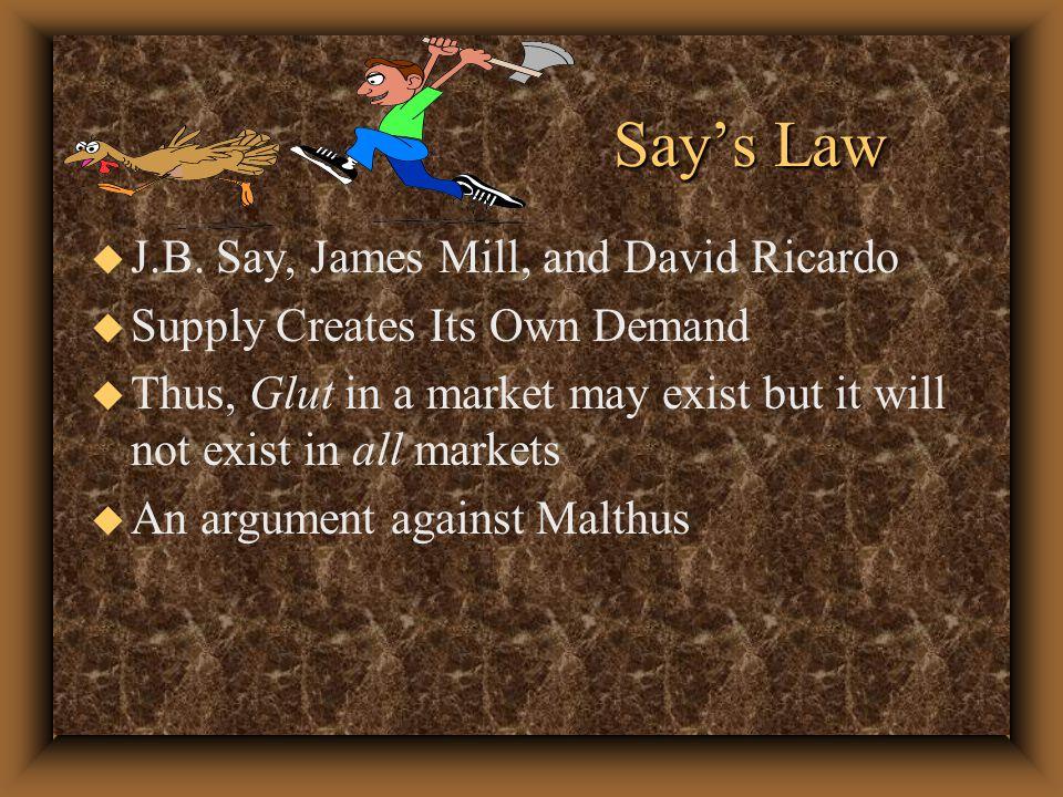 Say's Law Say's Law u J.B.