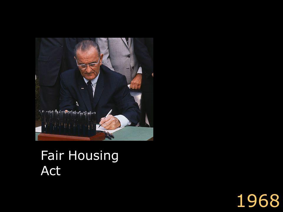 Fair Housing Act 1968