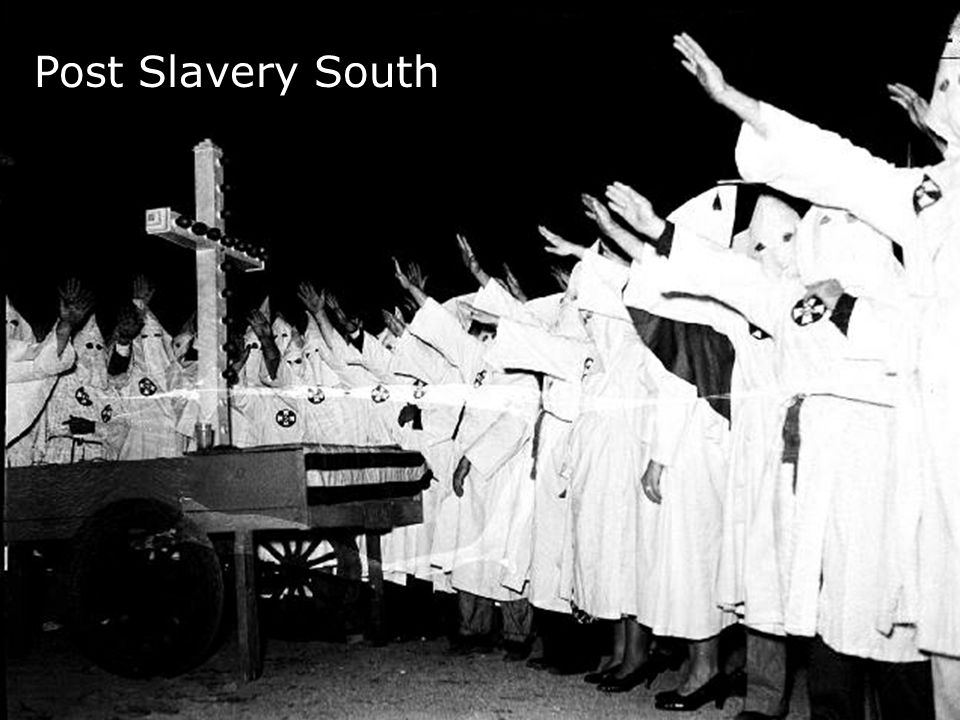 Post Slavery South