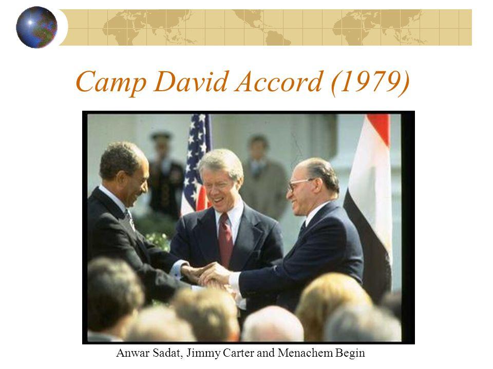 Camp David Accord (1979) Anwar Sadat, Jimmy Carter and Menachem Begin