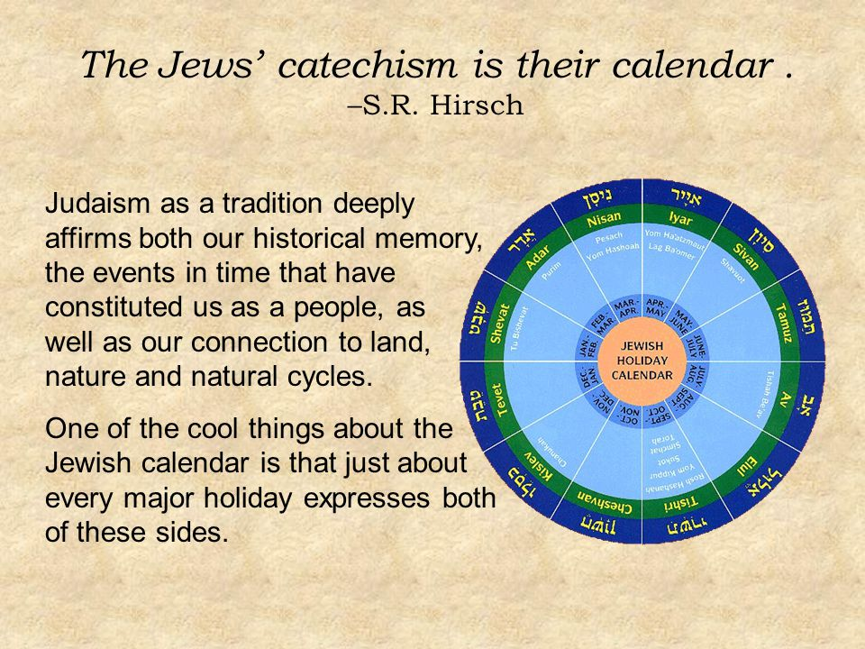 The Jews' catechism is their calendar. –S.R.