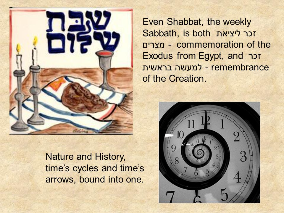 Even Shabbat, the weekly Sabbath, is both זכר ליציאת מצרים - commemoration of the Exodus from Egypt, and זכר למעשה בראשית - remembrance of the Creation.