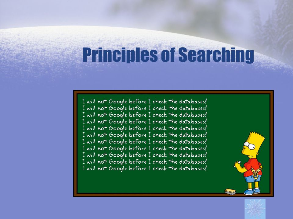 Principles of Searching