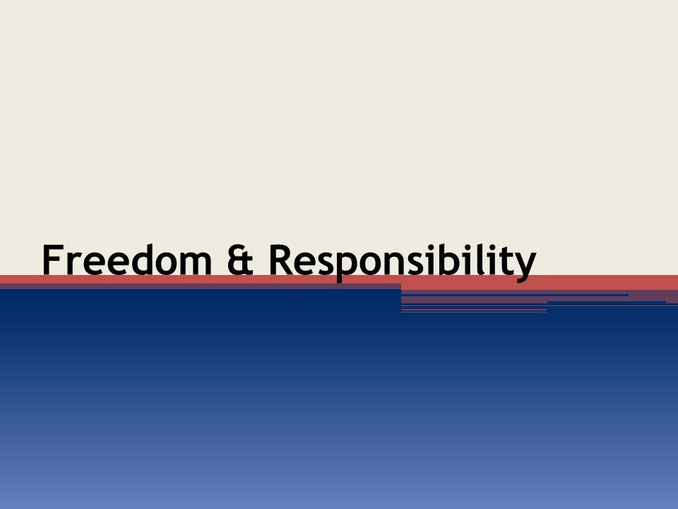 Introduction Freedom is a grand ideal, but is always accompanied by some restrictive code of governance (Isa.