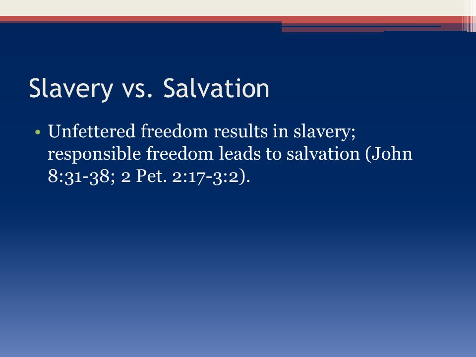 Conclusion Do you wish to find freedom from the yoke of sin.