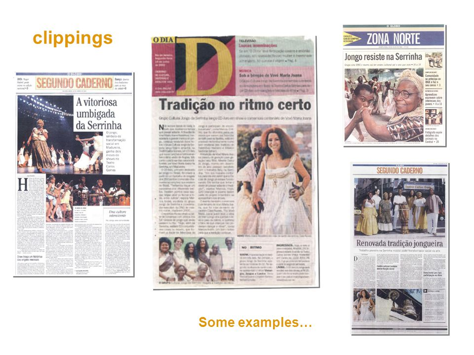 clippings Some examples…
