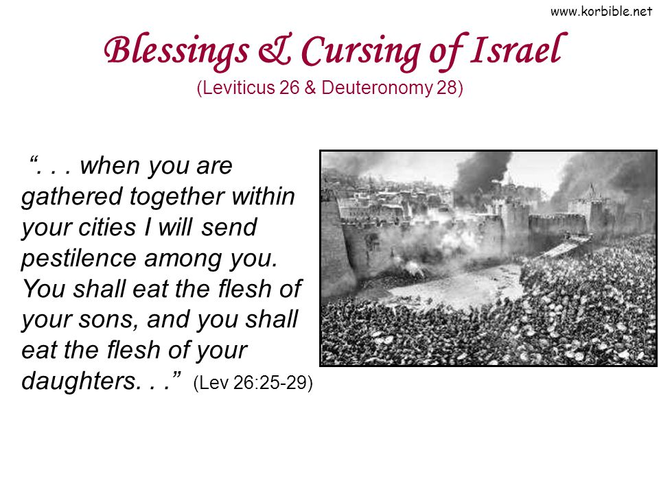www.korbible.net Blessings & Cursing of Israel (Leviticus 26 & Deuteronomy 28) ...