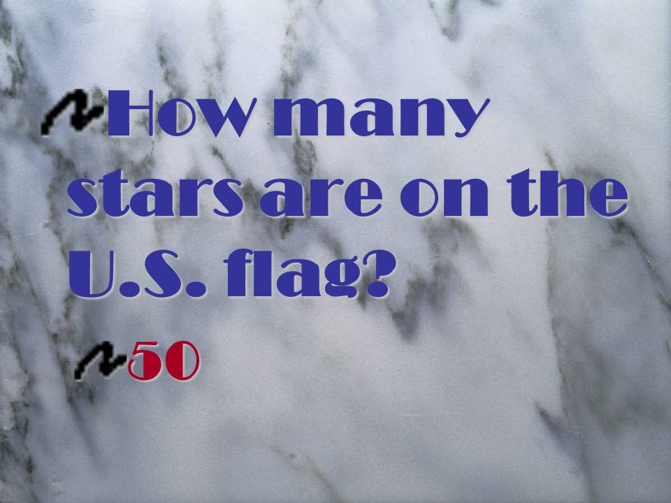 How many stars are on the U.S. flag 50