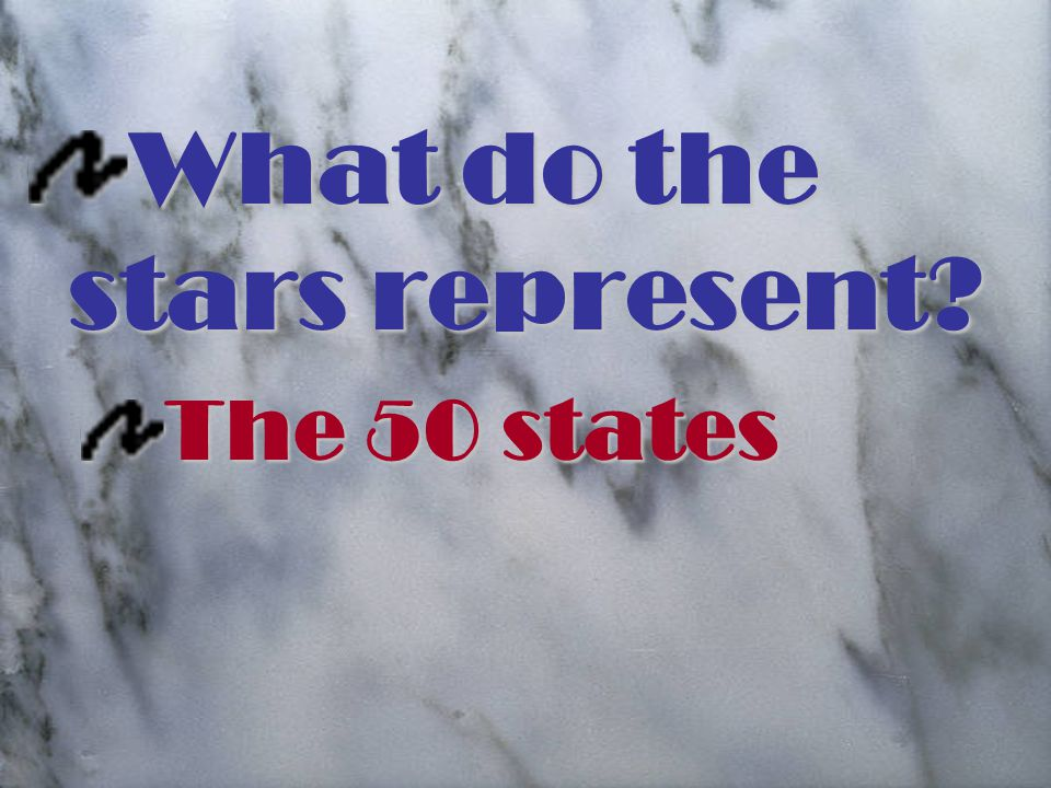 What do the stars represent The 50 states