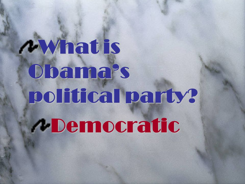 What is Obama's political party Democratic