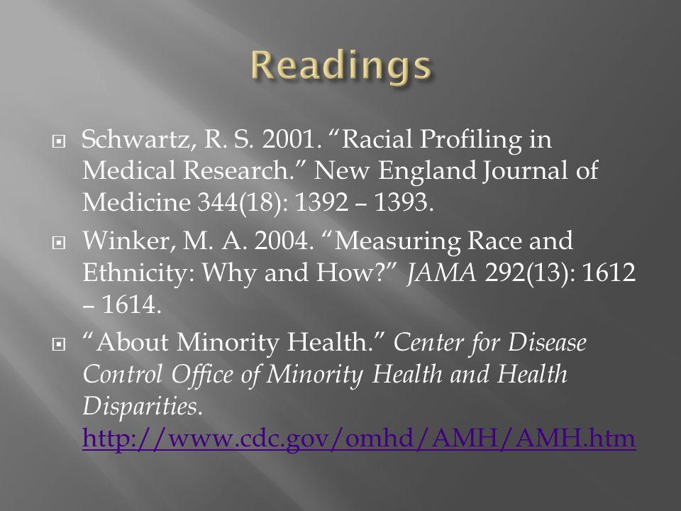  Schwartz, R. S. 2001.