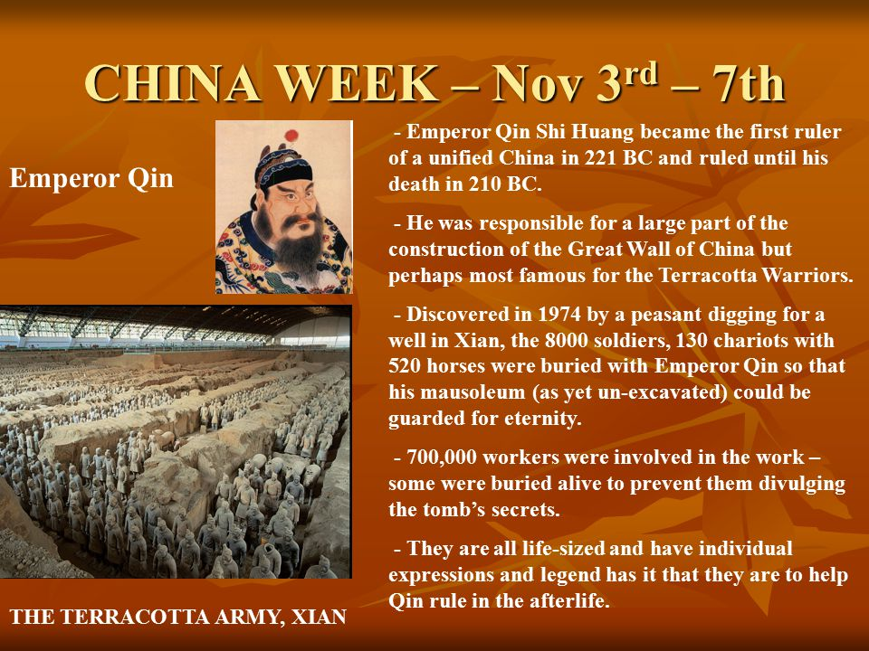 CHINA WEEK – Nov 3 rd – 7th Despite the terrible poverty of the vast majority of the Chinese people, the Emperors lived in privileged luxury and were treated like Gods.