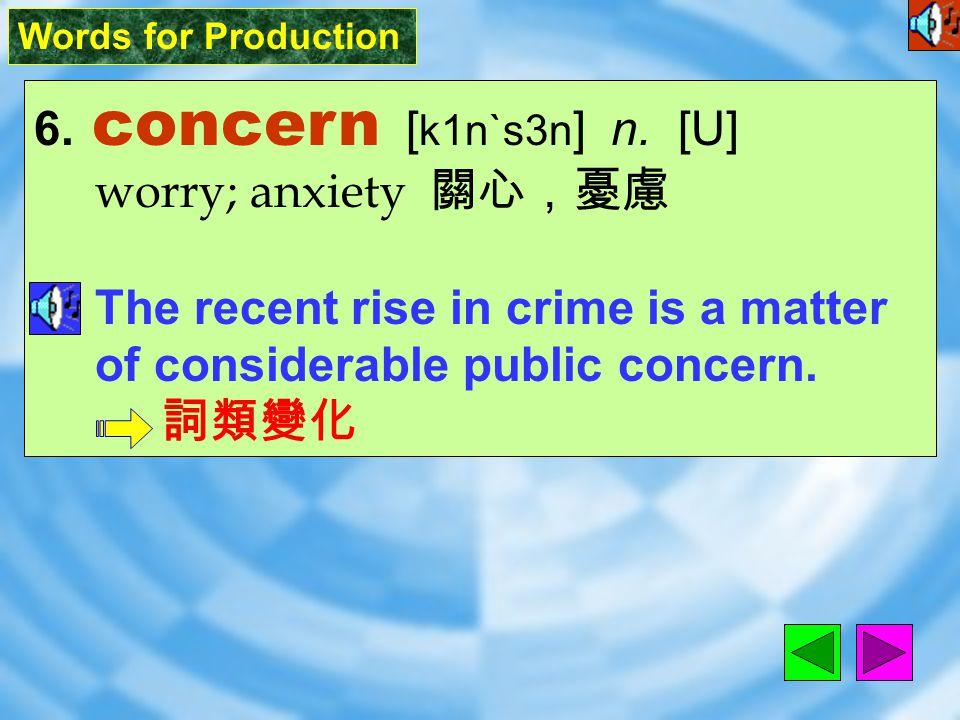 Words for Production 5. program [ `proGr8m ] n.