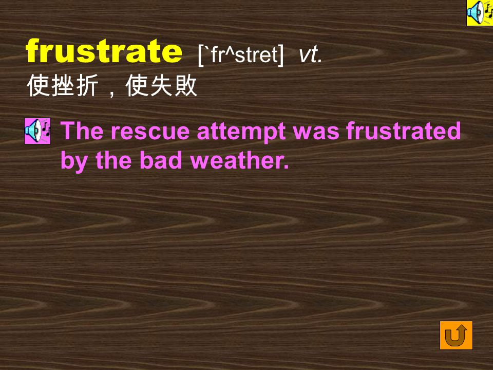 Words for Production 9. frustration [ fr^s`treS1n ] n.