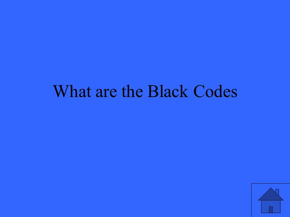 What are the Black Codes