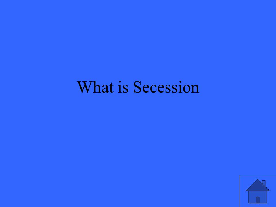 What is Secession