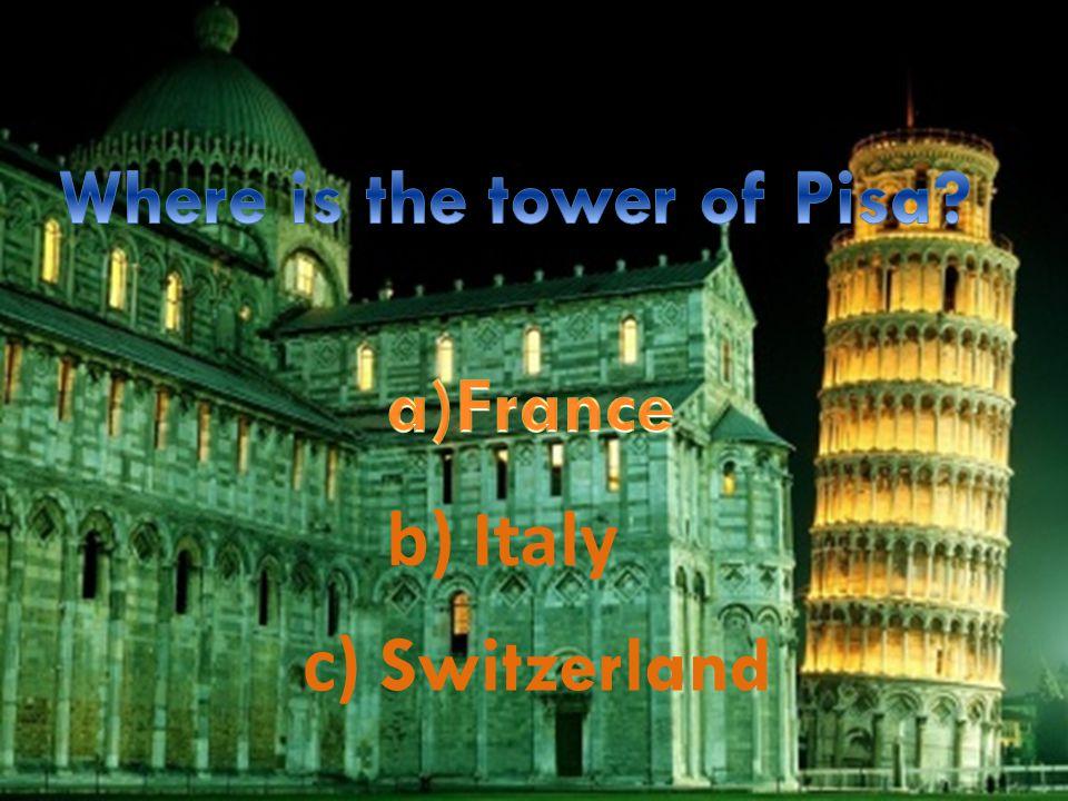 c) Switzerland b) Italy