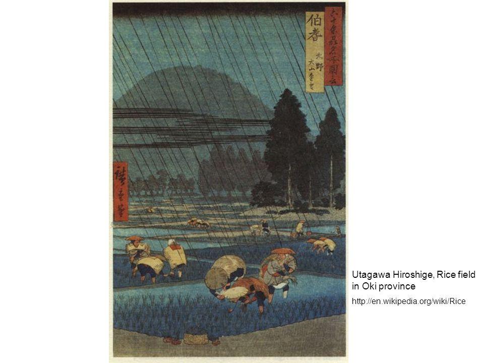 Utagawa Hiroshige, Rice field in Oki province http://en.wikipedia.org/wiki/Rice