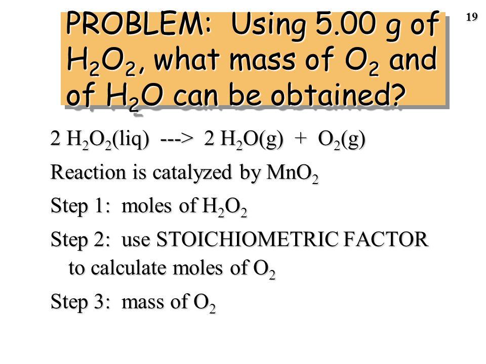 18 454 g of NH 4 NO 3 --> N 2 O + 2 H 2 O STEP 6 Calculate the percent yield