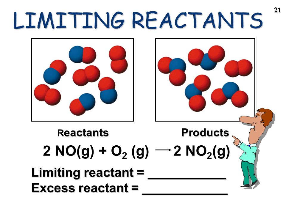 20 Reactions Involving a LIMITING REACTANT In a given reaction, there is not enough of one reagent to use up the other reagent completely.In a given reaction, there is not enough of one reagent to use up the other reagent completely.